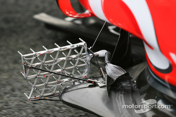 aero sensors on the McLaren Mercedes, MP4-25