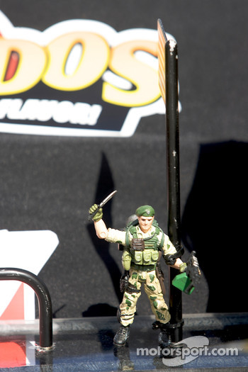Soldier on the car of Ryan Newman, Stewart-Haas Racing Chevrolet