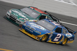 Kurt Busch, Penske Racing Dodge and Dale Earnhardt Jr., Hendrick Motorsports Chevrolet
