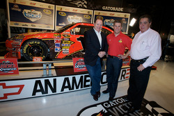 Champion's breakfast: 2010 Daytona 500 winner Jamie McMurray with team owners Chip Ganassi and Felix Sabates
