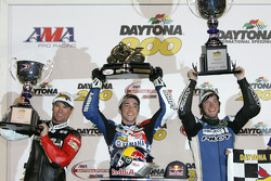 Podium: race winner Josh Herrin, second place Dane Westby, third place Steve Rapp