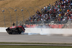 Brad Keselowski, Penske Racing Dodge crashes