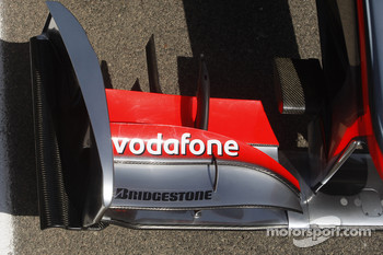 front wing of the McLaren