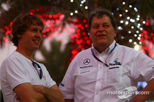 Sebastian Vettel, Red Bull Racing talks with Norbert Haug, Mercedes, Motorsport chief