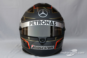 Helmet of Nick Heidfeld, Test Driver, Mercedes GP