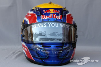 Helmet of Mark Webber, Red Bull Racing