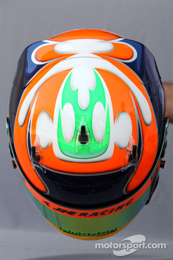Helmet of Karun Chandhok, HRT F1 Team