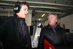 Marco Andretti en Mario Andretti