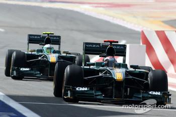 Jarno Trulli, Lotus F1 Team, Heikki Kovalainen, Lotus F1 Team