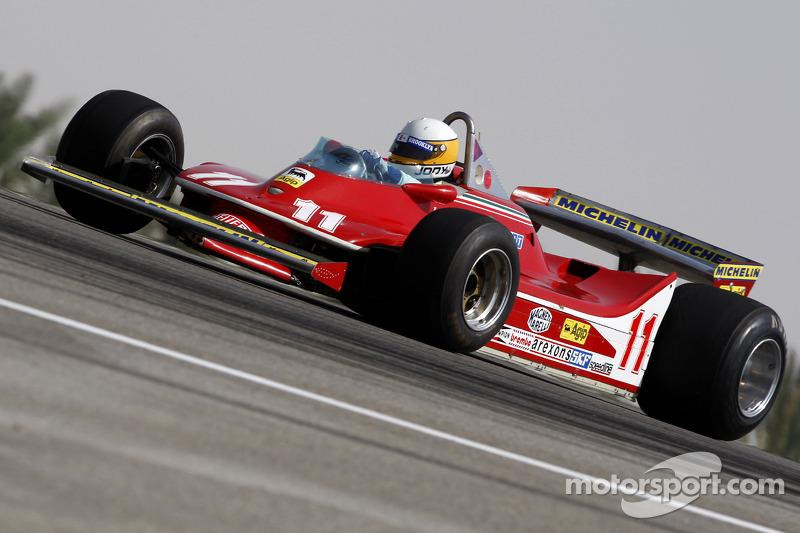 Jody Scheckter, 1979 F1 World Champion drives the 1979 Ferrari 312 T4