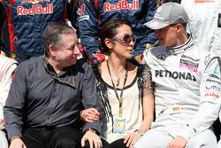 Jean Todt, FIA president, Michelle Yeoh, ex. James Bond girl, actor, Girlfriend of Jean Todt, Michael Schumacher, Mercedes GP
