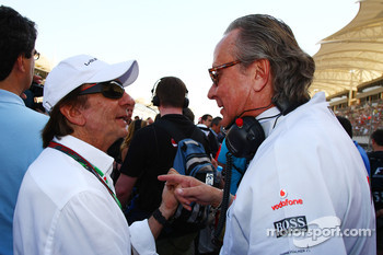 Emerson Fittipaldi with Mansour Ojeh, Commercial Director of the TAG McLaren