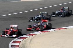 Felipe Massa, Scuderia Ferrari leads Lewis Hamilton
