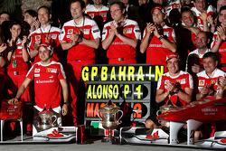 Scuderia Ferrari team celebration, Felipe Massa, Scuderia Ferrari Stefano Domenicali Ferrari General Director, Giancarlo Fisichella, Test Driver, Scuderia Ferrari, Fernando Alonso, Scuderia Ferrari