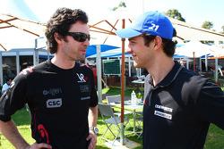 Marc Hynes with Bruno Senna, Hispania Racing F1 Team