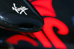 Virgin Racing front wing detail