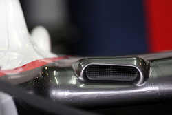 The F duct aero feature on the BMW Sauber F1 Team, detail