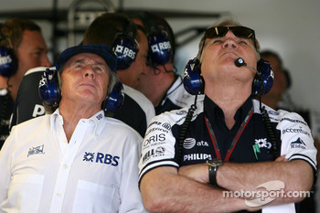 Sir Jackie Stewart, RBS Representitive and Ex F1 World Champion, Patrick Head, WilliamsF1 Team, Director of Engineering