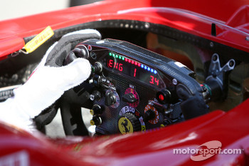 The Ferrari steering wheel