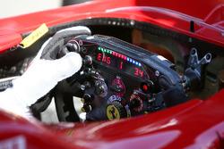 The Ferrari steering wheel