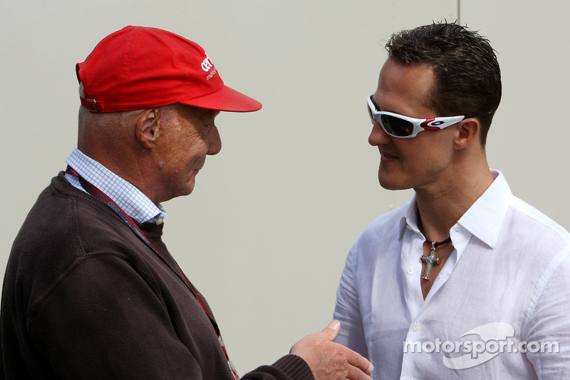 Niki Lauda and Michael Schumacher, Mercedes GP