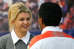 Corina Schumacher, Corinna, Wife of Michael Schumacher and Balbir Singh