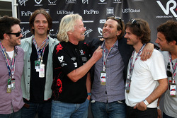 Sir Richard Branson, Chairman of the Virgin Group with the band powderfinger