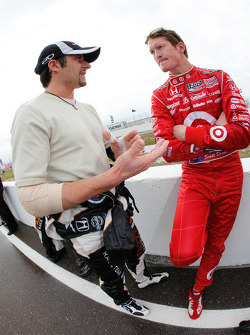 Alex Tagliani, FAZZT Race Team and Scott Dixon, Target Chip Ganassi Racing
