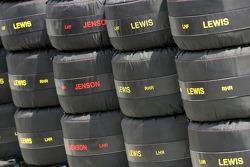 McLaren Mercedes spare tyres