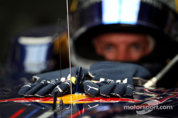 The gloves of Sebastian Vettel, Red Bull Racing