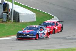 #57 Stevenson Motorsport Camaro GT.R: Andrew Davis, Robin Liddell passes #46 Autohaus Camaro GT.R:: Shane Lewis, Richard Zahn