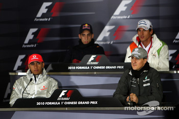 Lewis Hamilton, McLaren Mercedes, Sebastien Buemi, Scuderia Toro Rosso, Michael Schumacher, Mercedes GP, Adrian Sutil, Force India F1 Team