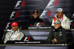 Lewis Hamilton, McLaren Mercedes, Sebastien Buemi, Scuderia Toro Rosso, Michael Schumacher, Mercedes GP, Adrian Sutil, Force India F1 Team