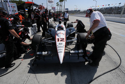 Will Power's Penske crew works on his car