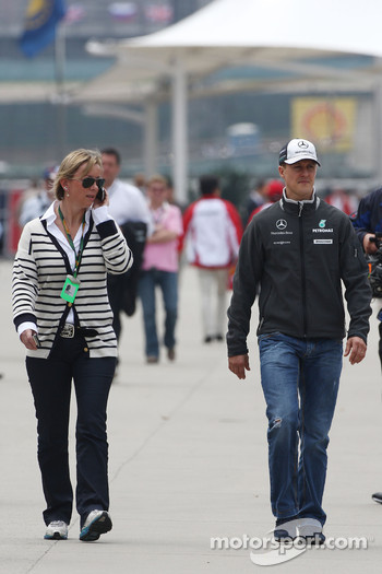 Sabine Kehm, Michael Schumacher's press officer, Michael Schumacher, Mercedes GP