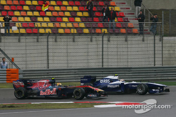 Jaime Alguersuari, Scuderia Toro Rosso and Nico Hulkenberg, Williams F1 Team