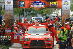 Second place, Gaurav Gill with co-driver Glen Macneall of MRF Tyres