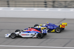 Hideki Mutoh, Newman/Haas Racing leads Mike Conway, Dreyer and Reinbold Racing