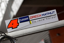 Team Oreca Matmut pit sign