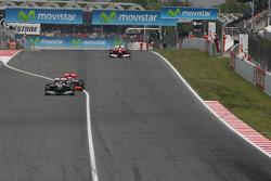 Michael Schumacher, Mercedes GP and Jenson Button, McLaren Mercedes