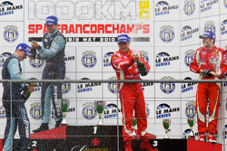LMGT2 podium: class winners Marc Lieb and Richard Lietz, second place Gianmaria Bruni and Jaime Melo, third place Giancarlo Fisichella, Toni Vilander and Jean Alesi celebrate with champagne