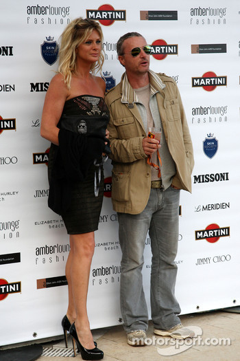 Rachel Hunter, Eddie Irvine (IRL) Ex F1 Driver, Amber Lounge Fashion Show