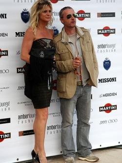 Rachel Hunter, Eddie Irvine (IRL) Ex F1 Driver, Amber Lounge Fashion Show