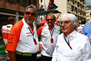 Vijay Mallya Force India F1 Team Owner and Bernie Ecclestone