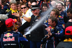Podium: second place Sebastian Vettel, Red Bull Racing