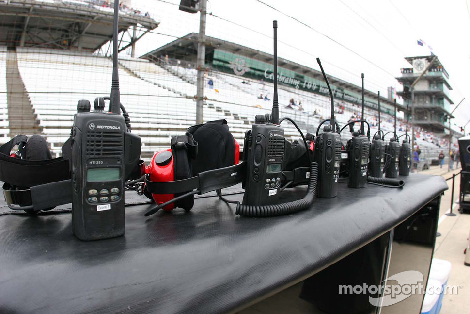 Race radios sit ready