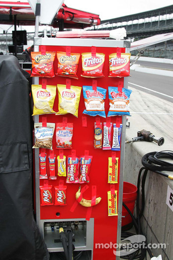 Snacks on the pit cart