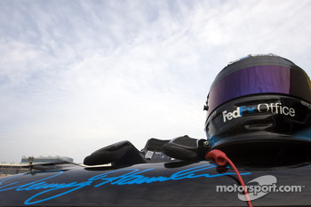 Helmet of Denny Hamlin, Joe Gibbs Racing Toyota