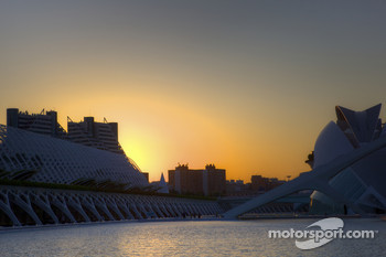 Sunset over City of Arts and Sciences
