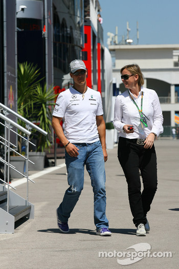 Michael Schumacher, Mercedes GP and Sabine Kehm, Michael Schumacher's press officer